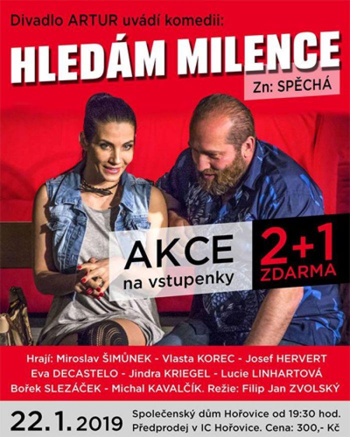 Hledm milence, zn. Spch - Divadlo / Hoovice 22.01.2019