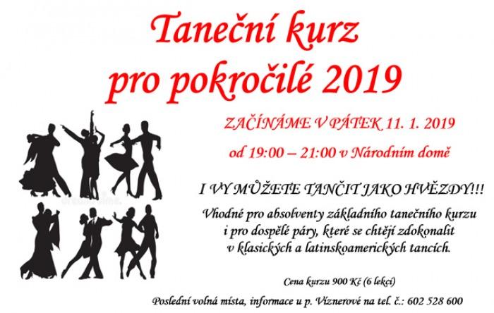 11.01.2019 - Taneční kurz pro pokročilé 2019 - Hostinné