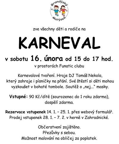 16.02.2019 - Dětský karneval / Brandýs nad Labem