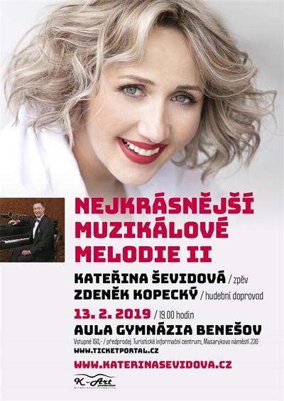 13.02.2019 - Nejkrásnější muzikálové melodie II. - Benešov