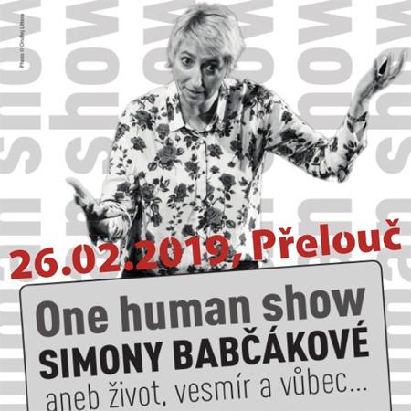 26.02.2019 - ONE HUMAN SHOW SIMONY BABČÁKOVÉ / Přelouč