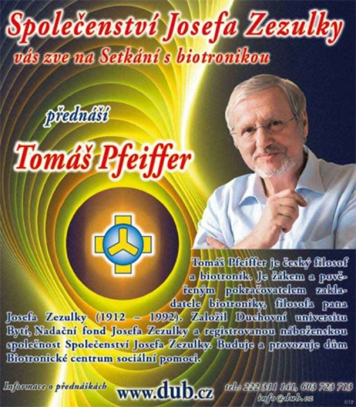 09.03.2019 - Tomáš Pfeiffer: SETKÁNÍ S BIOTRONIKOU / Karlovy Vary