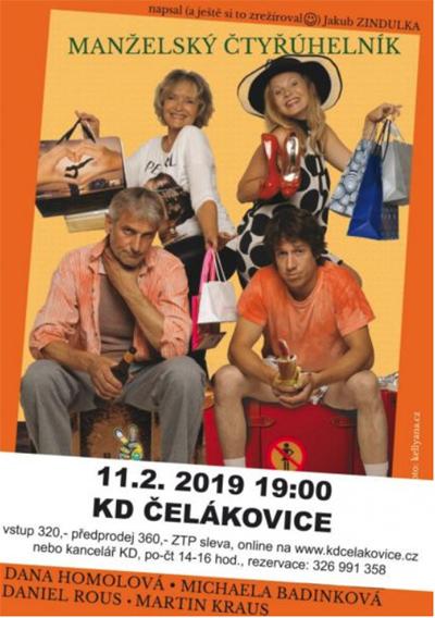 11.02.2019 - Manželský čtyřúhelník - Divadlo / Čelákovice