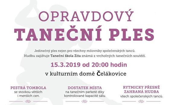 15.03.2019 - Opravdový taneční ples 2019 / Čelákovice