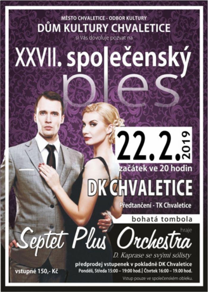22.02.2019 - XXVII. Společenský ples / Chvaletice