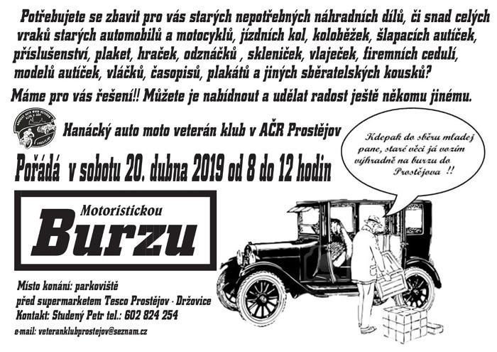 20.04.2019 - Jarní BURZA 2019 - Prostějov