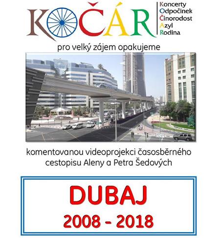 Přednáška Aleny a Petra Šedových - Dubaj 2008 - 2018 / Brandýs