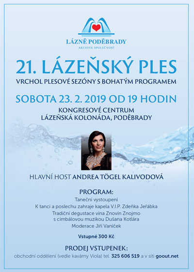 23.02.2019 - 21. Lázeňský ples - Poděbrady