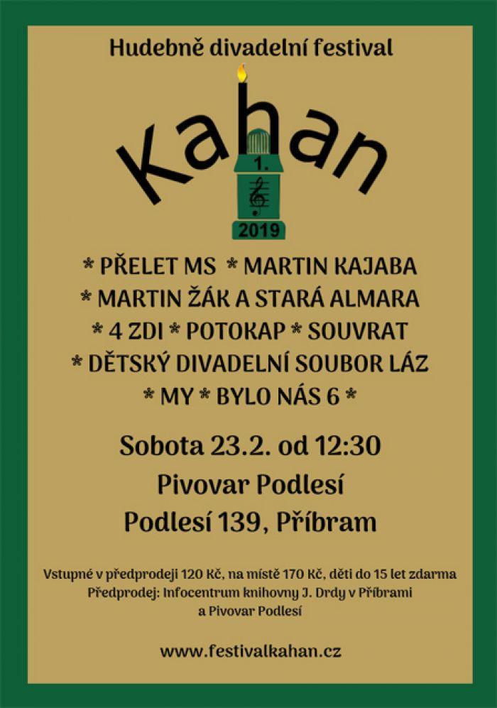Festival hudby a divadla Kahan 2019 - Příbram