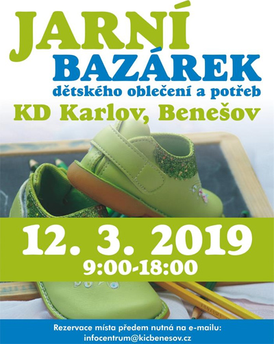 12.03.2019 - Jarní bazárek / Benešov