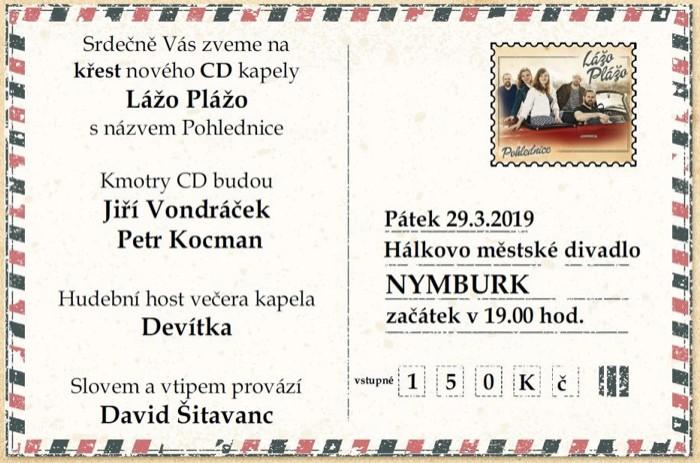 Lážo Plážo - křest CD Pohlednice / Nymburk
