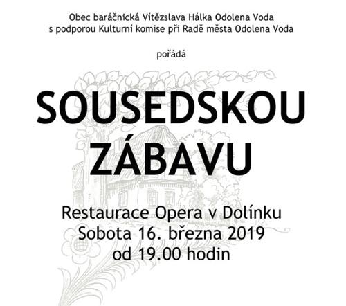 16.03.2019 - SOUSEDSKÁ ZÁBAVA - Odolena Voda