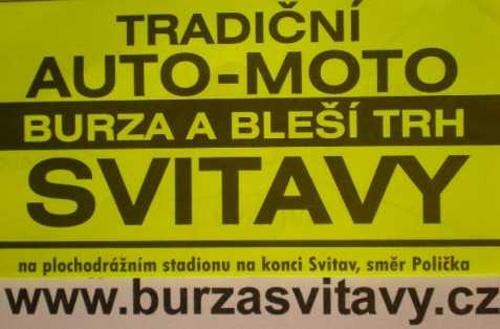 17.03.2019 - Auto-moto burza a bleší trh - Svitavy