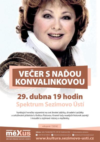 Večer s Naďou Konvalinkovou - Sezimovo Ústí