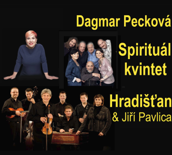 16.04.2019 - Dagmar Pecková, Hradišťan, Spirituál kvintet - Praha