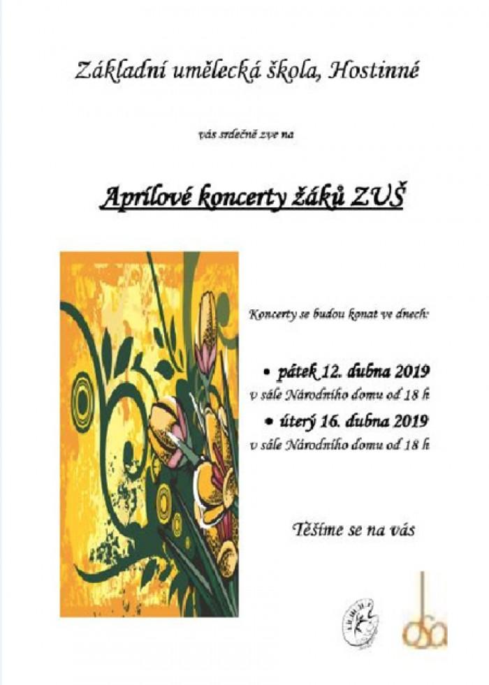 16.04.2019 - Aprílové koncerty žáků ZUŠ - Hostinné