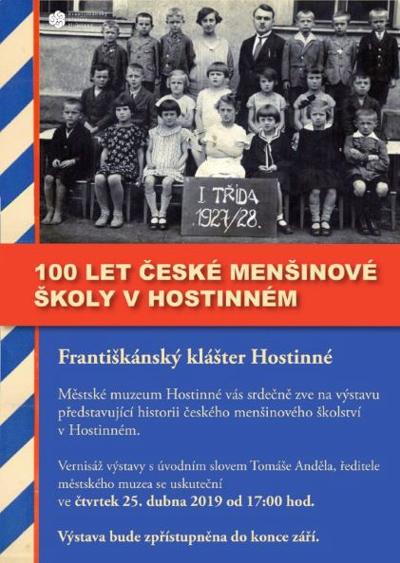 100 let české menšinové školy v Hostinném