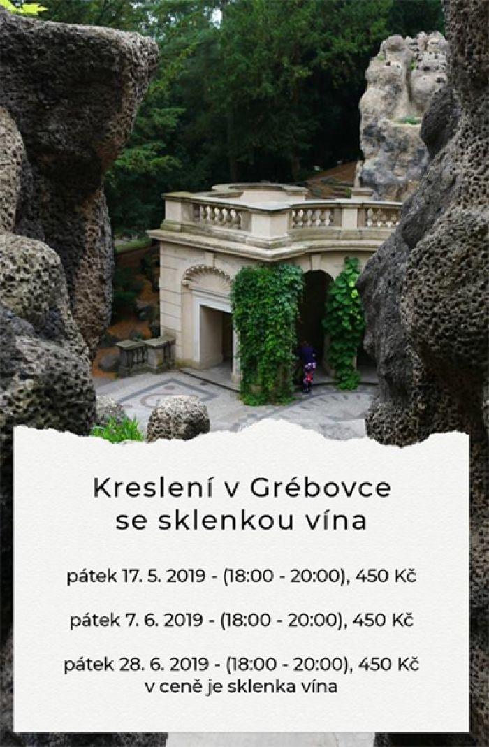 17.05.2019 - Kreslení v Grébovce se sklenkou vína - Praha