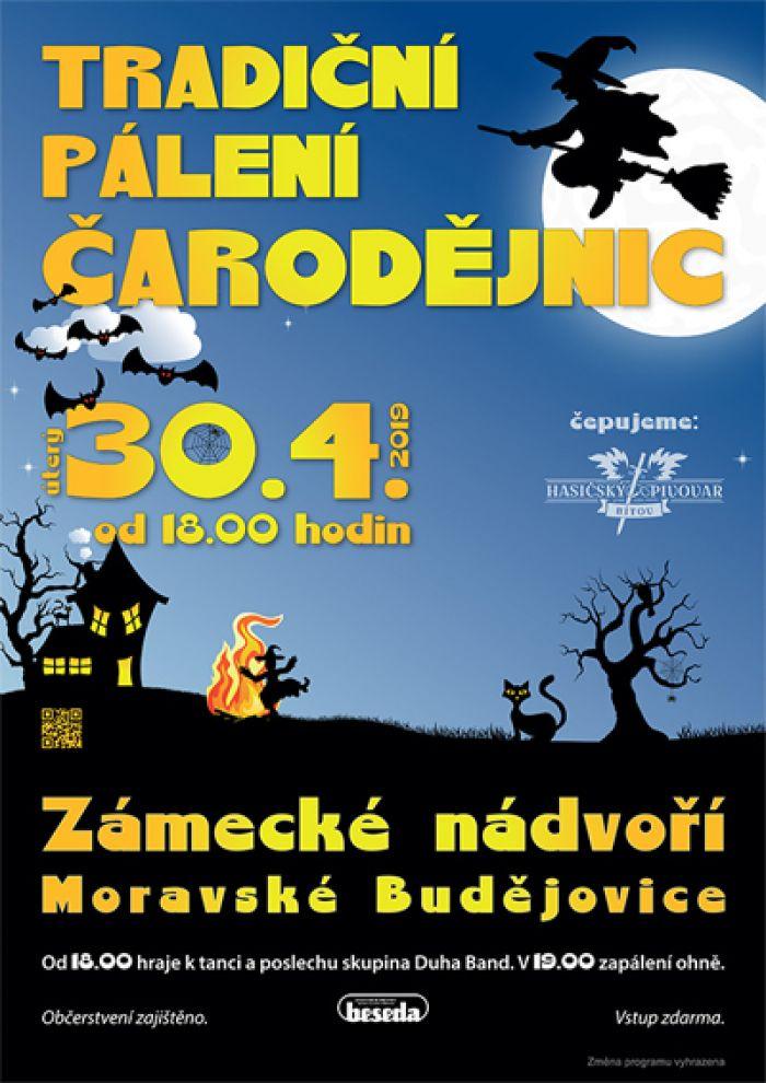 Tradiční pálení čarodějnic -  Moravské Budějovice