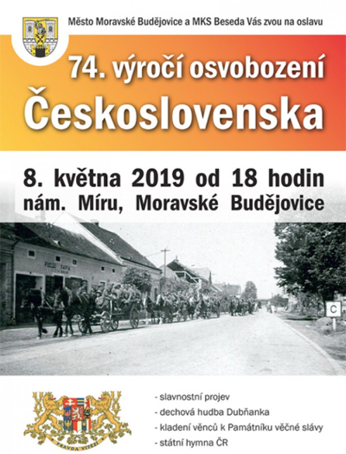 74. výročí osvobození Československa - Moravské Budějovice