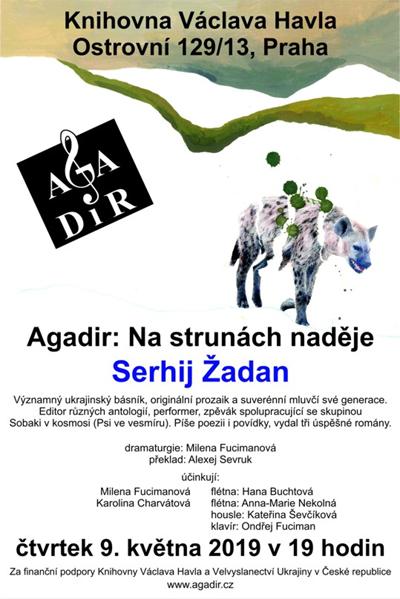 09.05.2019 - Agadir: Na strunách naděje, Serhij Žadan - Praha