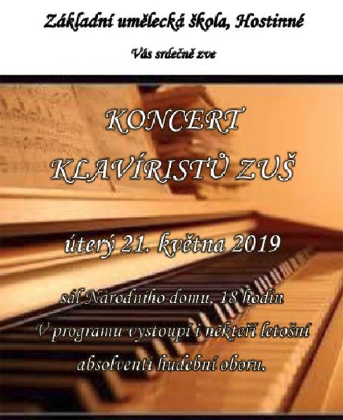 21.05.2019 - Koncert klavíristů - ZUŠ Hostinné