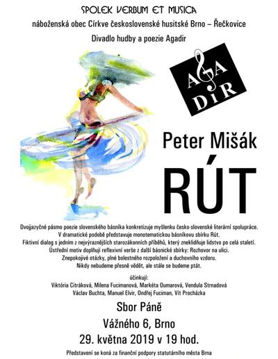 29.05.2019 - Agadir uvádí... Peter Mišák: Rút / Brno