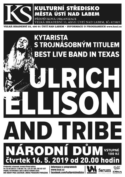 16.05.2019 - ULRICH ELLISON and The Tribe (USA) - Ústí nad Labem
