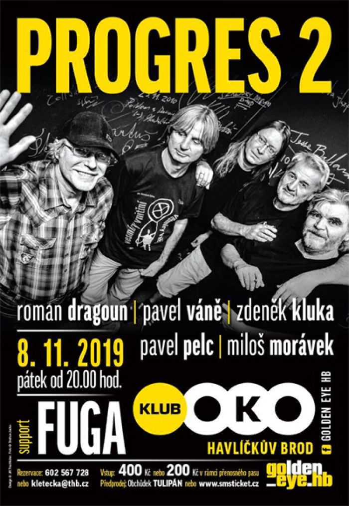 08.11.2019 - Progres 2 / Fuga - Koncert / Havlíčkův Brod