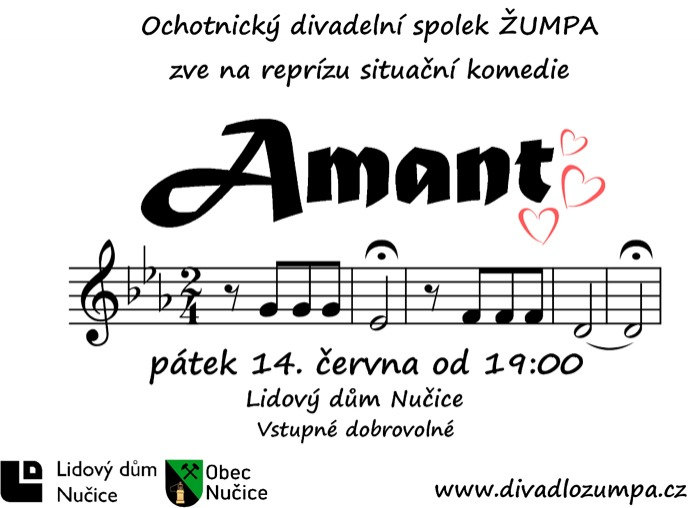 14.06.2019 - Amant - Divadelní představení / Nučice