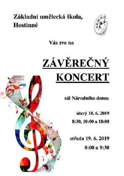 18.06.2019 - Závěrečný koncert ZUŠ - Hostinné
