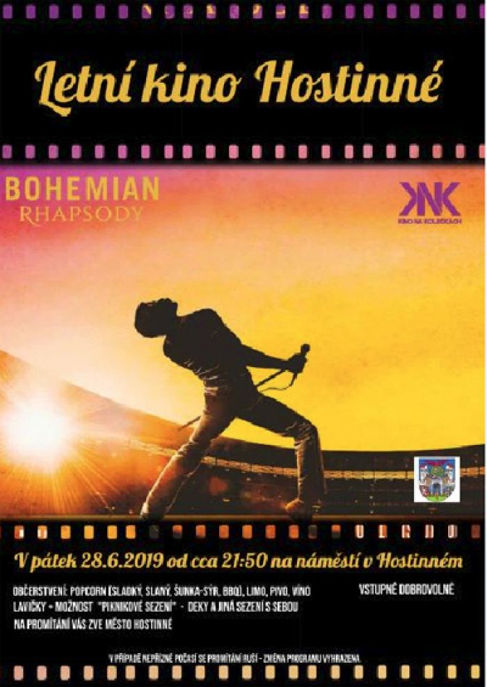 28.06.2019 - Bohemian Rhapsody - Letní kino / Hostinné