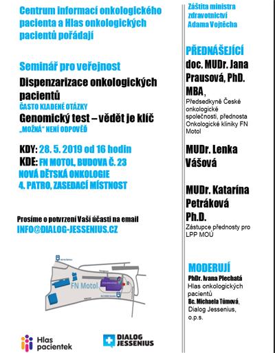 Dispenzarizace pro onkologické pacienty - Seminář / Praha 5