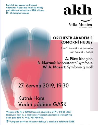 27.06.2019 - Orchestr Akademie komorní hudby - Kutná Hora