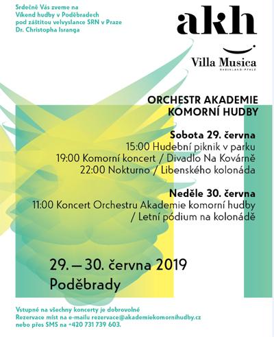 29.06.2019 - Víkend hudby v Poděbradech