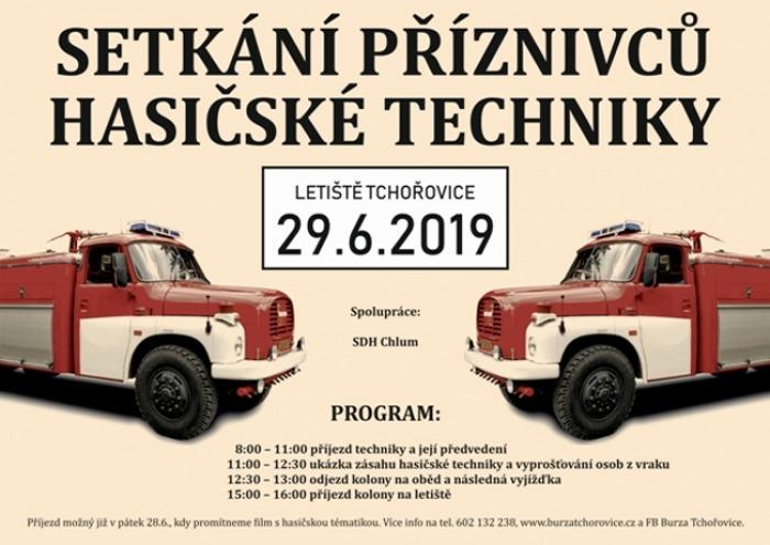 Sraz příznivců hasičské techniky - Tchořovice