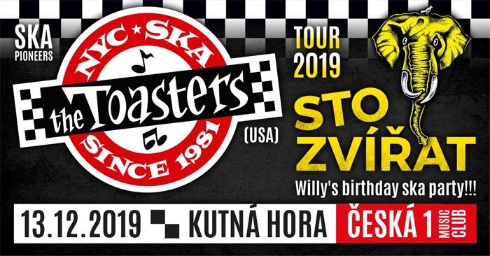 13.12.2019 - Sto Zvířat + The Toasters (USA) / Kutná Hora