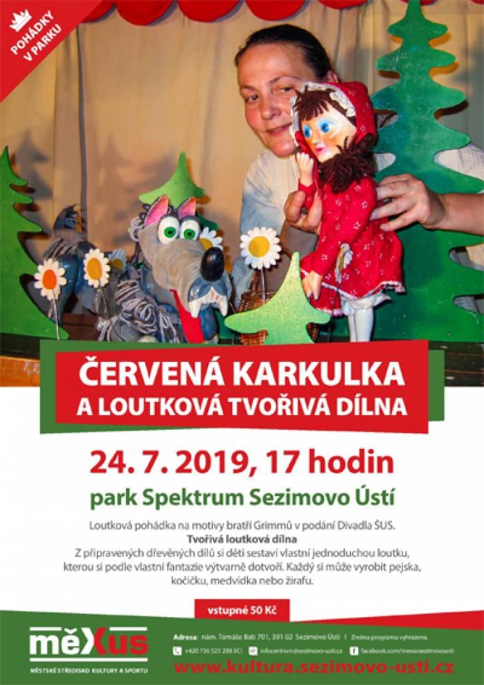 24.07.2019 - Červená karkulka s loutkovou dílnou - Sezimovo Ústí