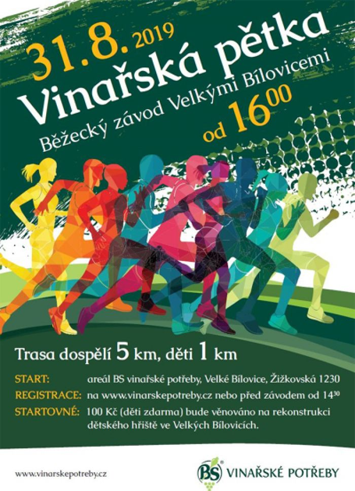 VINAŘSKÁ PĚTKA - Běžecký závod / Velké Bílovice