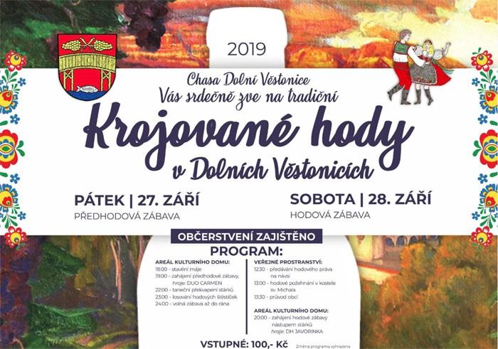 27.09.2019 - Krojované hody 2019 - Dolní Věstonice