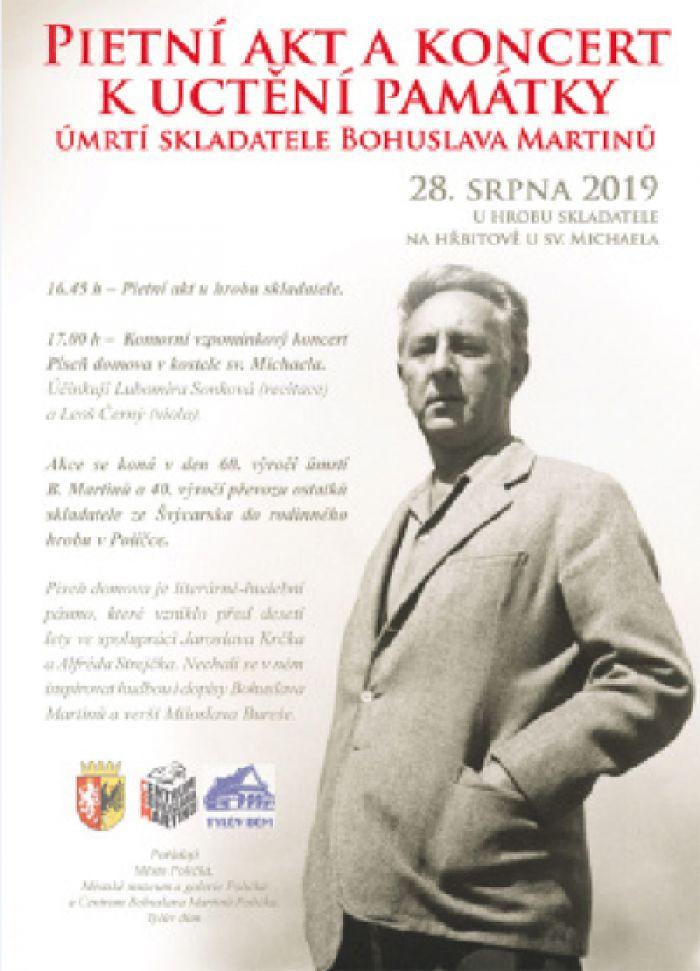 28.08.2019 - Uctění památky úmrtí skladatele Bohuslava Martinů - Polička