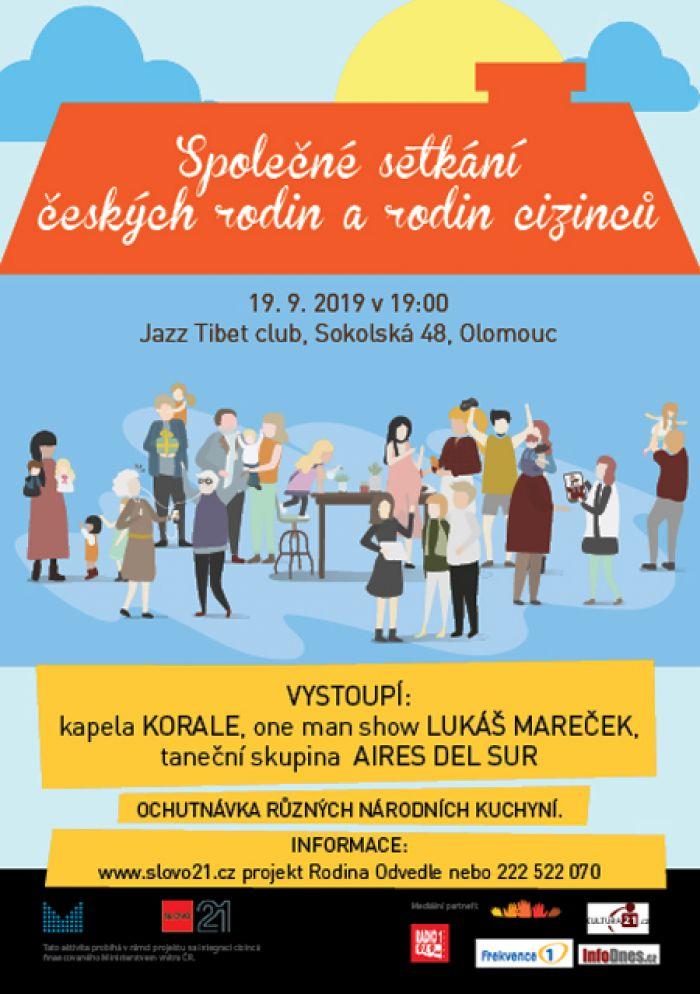 Společné setkání českých rodin a rodin cizinců - Olomouc
