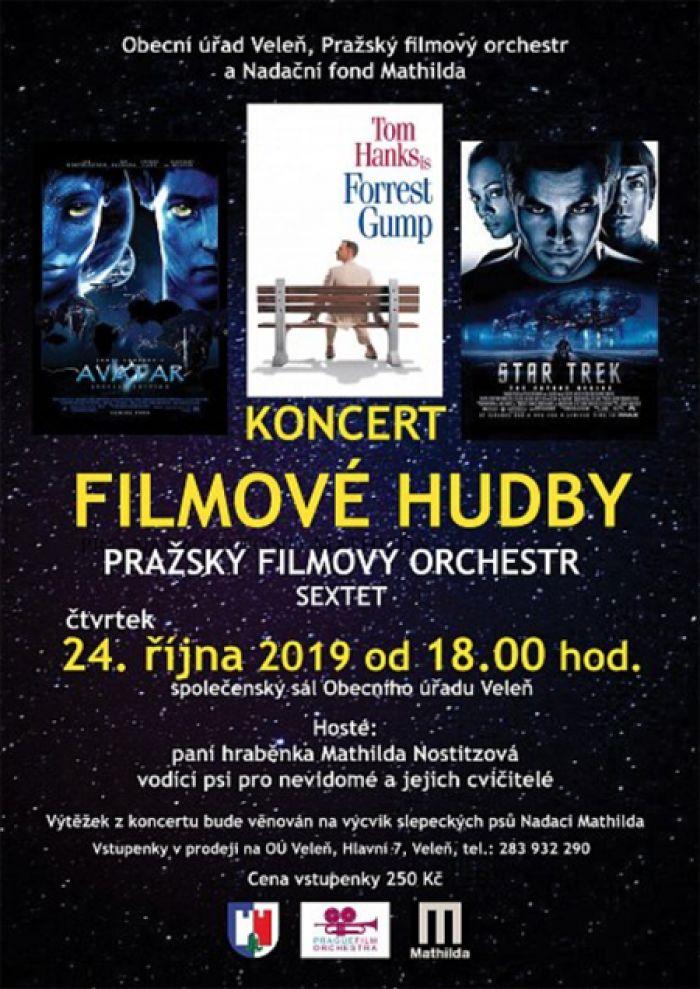 24.10.2019 - Koncert FILMOVÉ HUDBY pro nadaci Mathilda / Veleň