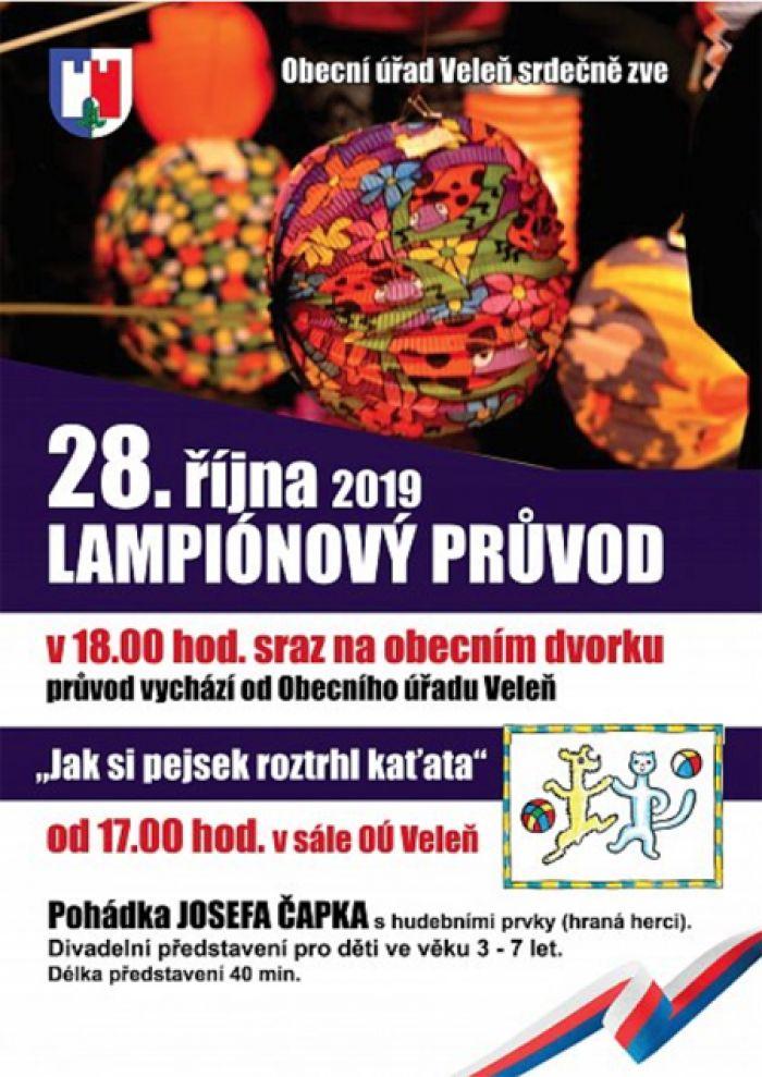 28.10.2019 - POHÁDKA pro nejmenší a LAMPIÓNOVÝ PRŮVOD / Veleň