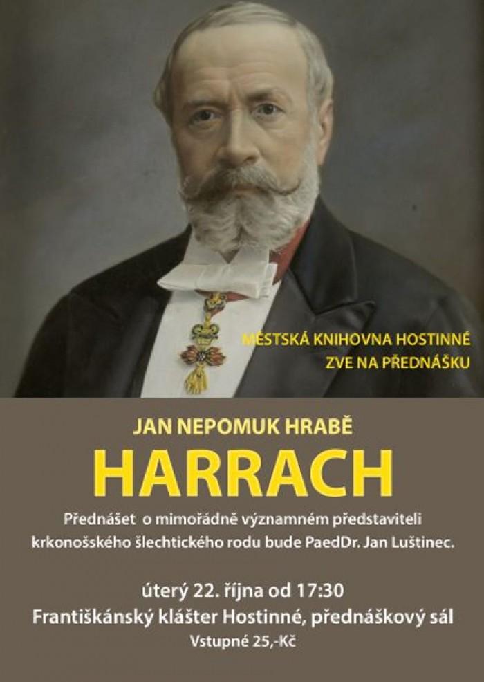 22.10.2019 - Jan Nepomuk hrabě Harrach - Hostinné
