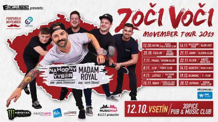 12.10.2019 - Zoči Voči - Movember Tour 2019 / Vsetín