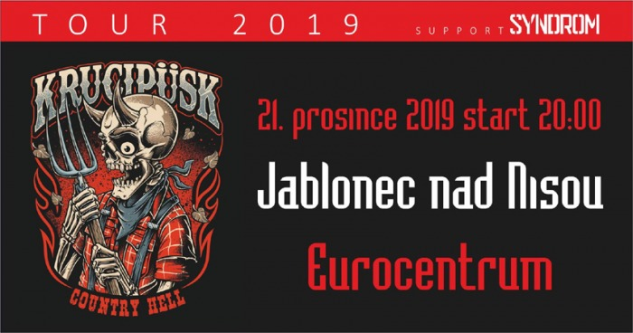 21.12.2019 - Krucipüsk - Country Hell tour 2019 / Jablonec nad Nisou