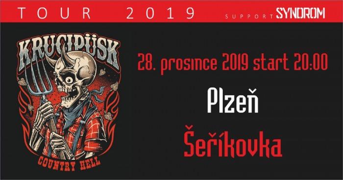28.12.2019 - Krucipüsk - Country Hell tour 2019 / Plzeň