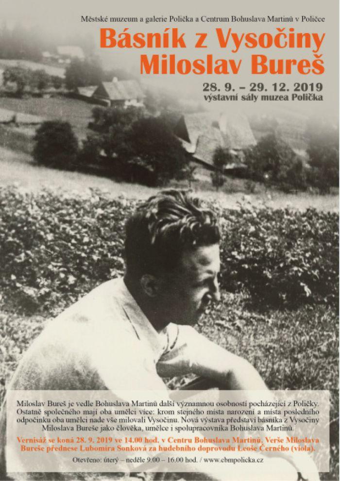 28.09.2019 - Básník z Vysočiny Miloslav Bureš -  Výstava / Polička