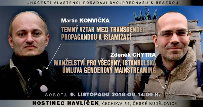 09.11.2019 - Manželství pro všechny, Istanbulská úmluva - České Budějovice